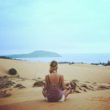 Krystin meditating
